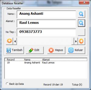 Database Reseller Untuk Di Print Di Alamat Tujuan